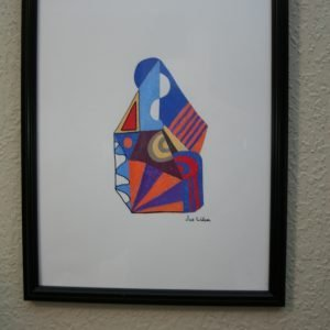 Framed Abstract Drawing
